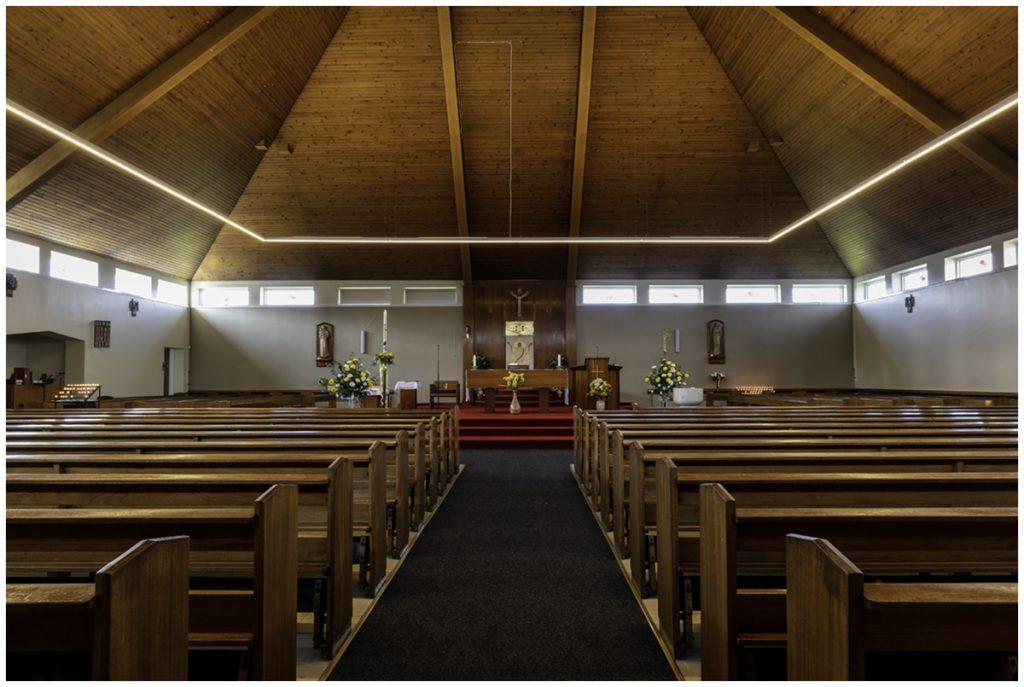 Interior of St Anthony's church Rutherglen