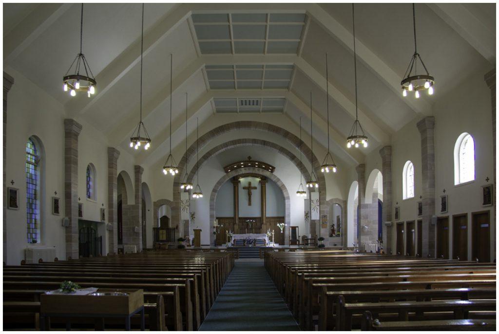Interior of St Mark's church Rutherglen